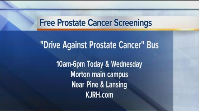 TUESDAY AND WENESDAY: Free prostate cancer screenings at Morton Comprehensive Health Services