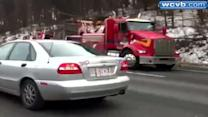 RAW Video: Truck wreck on Route 128