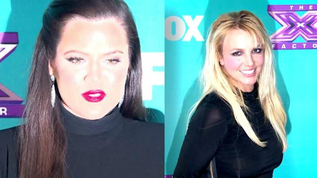 Britney Spears and Khloe Kardashian Have a Fashion Face-Off in Matching LBDs