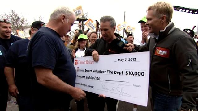 Superstorm Sandy Firefighters Surprised With Funds to Rebuild