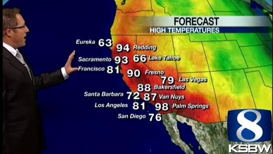Get Your Thursday KSBW Weather Forecast 5.02.13