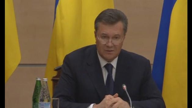 Ukraine crisis: Ousted leader Yanukovich reappears in Russia
