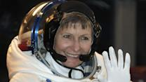 US astronaut blasts into the history books