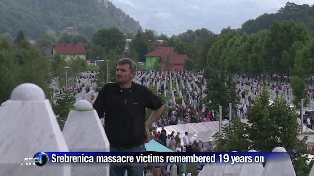 Srebrenica massacre victims remembered 19 years on