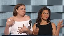 Lena Dunham and America Ferrera Tear Into Trump at the DNC