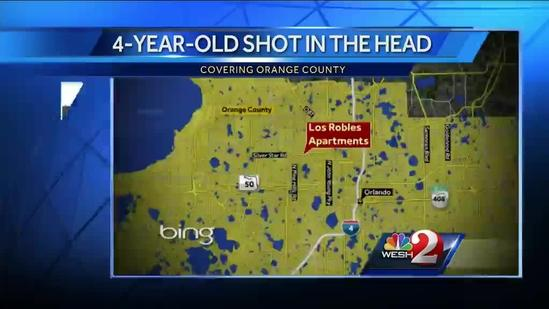 4-year-old boy shot in head, rushed to ORMC