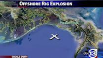 Search continues for two missing after Gulf platform fire