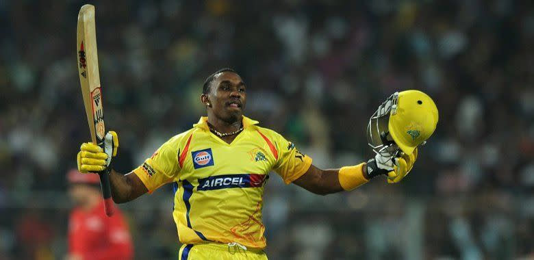 Bravo smashed a six off the last ball to seal a win at Eden Gardens