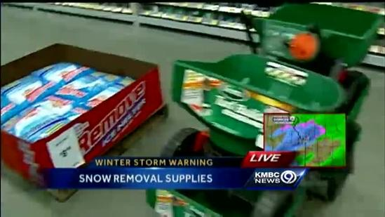 Stores see run on snow-removal supplies