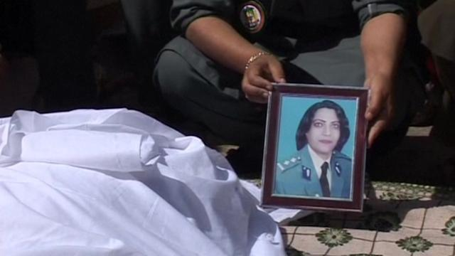 Female Afghan police official dies