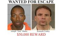 Escaped inmates $60,000 reward offered as search for bank robbers continues