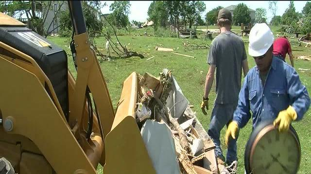 Shawnee area cleanup continues