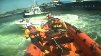 Exciting Video Of Rescue Crew Lassoing Boat