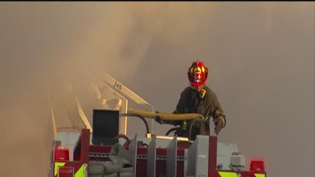 Cleveland Firefighters battle blaze at West 17th Street