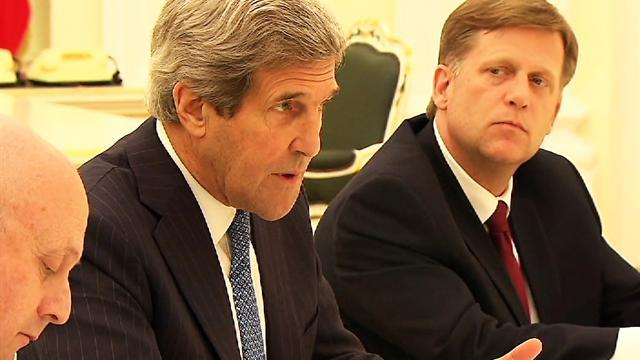 Kerry seeks Putin's support in Syrian civil war