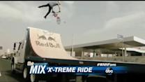 BMX Biker Thrills in Traffic