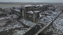 Drone shows what's left of Donetsk airport