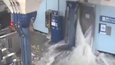 Raw: New views of Sandy flooding