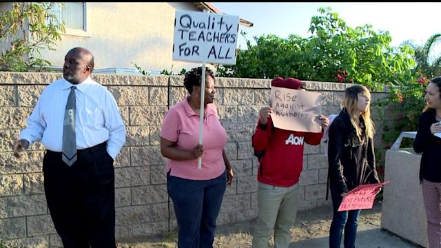 Parents Protest At Lincoln High School
