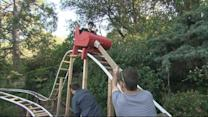 Dad Builds Roller Coaster in Backyard