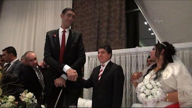 World's tallest man becomes happiest man on earth