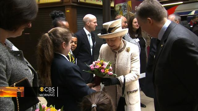 Queen rides the London subway