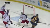 Tyler Myers scores 59 seconds into the game