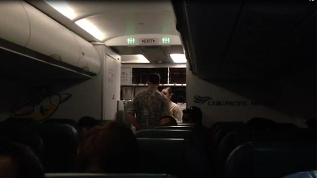 Foreigner makes a scene at a Cebu Pacific flight