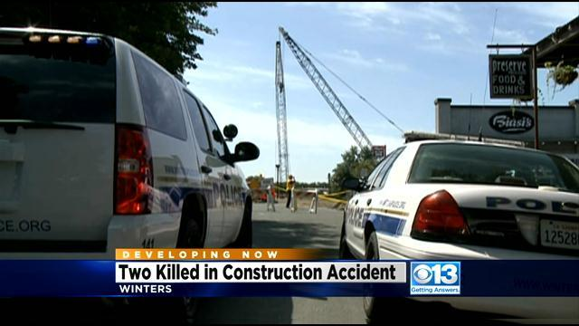 2 Workers Killed In Fall From Crane At Winters Construction Site