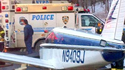 Small Plane Lands on NYC Highway