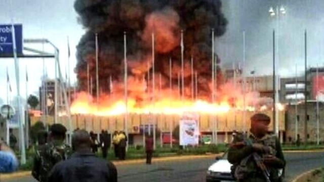 Massive fire breaks out at Nairobi, Kenya, airport