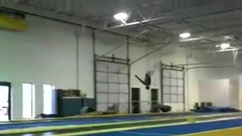 Gymnast Literally Flips Out!
