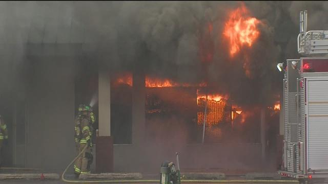 Businesses destroyed in Catoosa strip mall fire