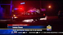 Police investigating possible car-to-car shooting