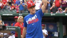Johnny Manziel throws out first pitch