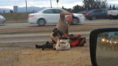 LA Woman Punched by Patrolman Speaks