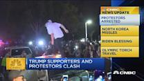 CNBC update: Trump supports & protesters clash