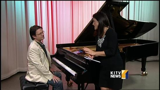 Local Pianist David Hicken plays us some Holiday tunes