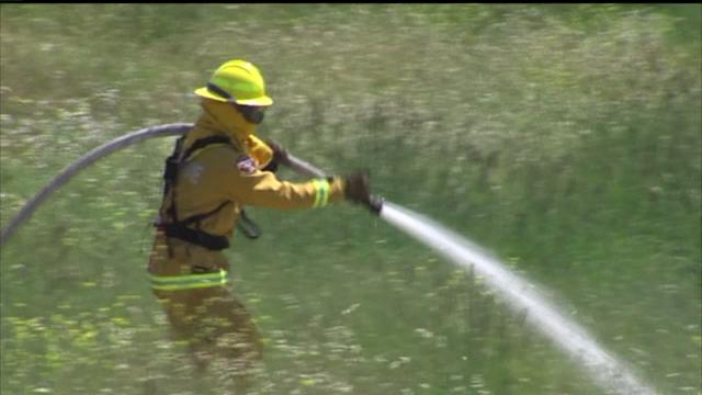 Firefighters Forced To Practice Without Fire Because of Dry Conditions