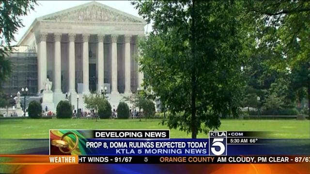 Supreme Court Set to Rule on Prop 8, DOMA