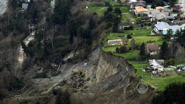 Landslide threatens Wash. neighborhood