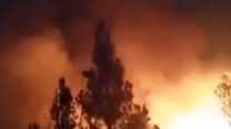 Little Deer Fire Blazes in Northern California