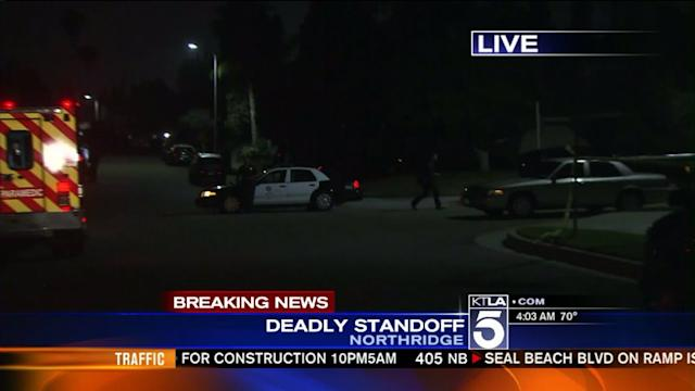 Man Barricaded After Woman Found Dead in Northridge