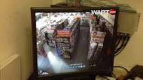 Burglar uses creative means to break into store