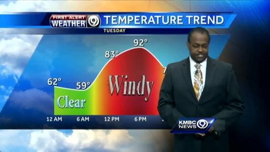 Very warm, very windy for your Tuesday