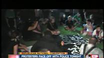 'Occupy' protesters get face to face with police