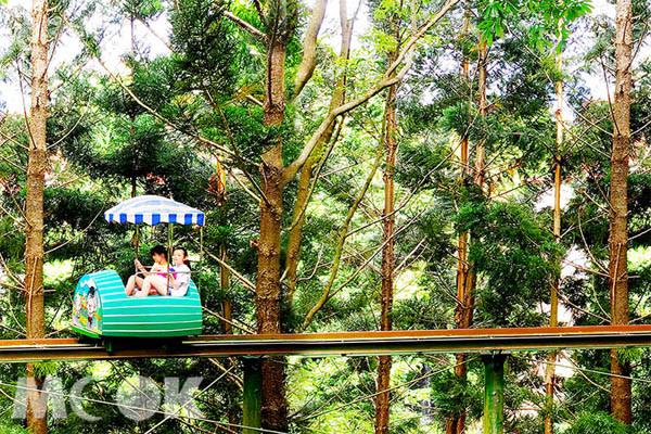 統一渡假村馬武督會館可以體驗在森林中「空中踏踏樂」的樂趣。