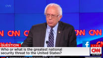 Sanders: Climate change is biggest security threat