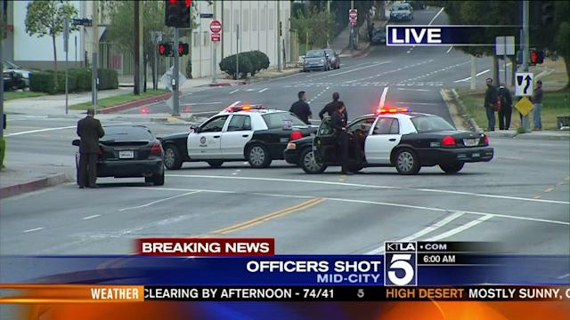 2 LAPD Officers Reportedly Shot in Mid-City
