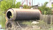 Purported space rocket part washes up in flooded Siberian village